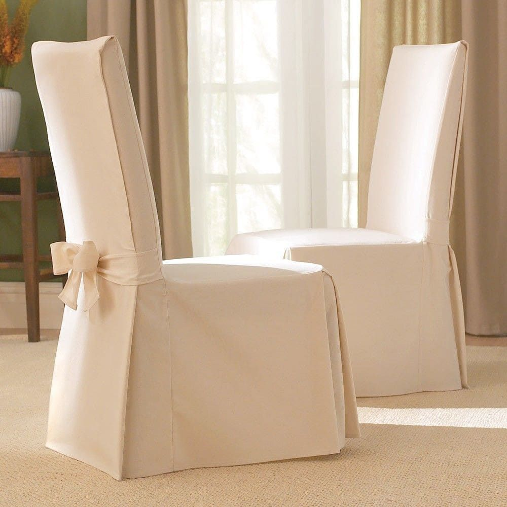White Dining Room Chair Slipcovers: Sure Fit Cotton Classic Dining Chair Slipcover