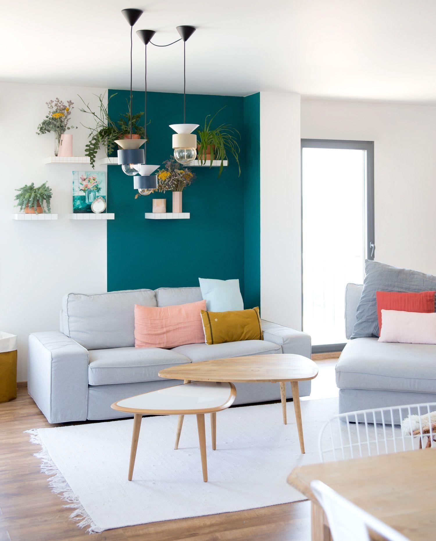 16 Deco Salon Mur Turquoise Check more at https://birds16alice.com