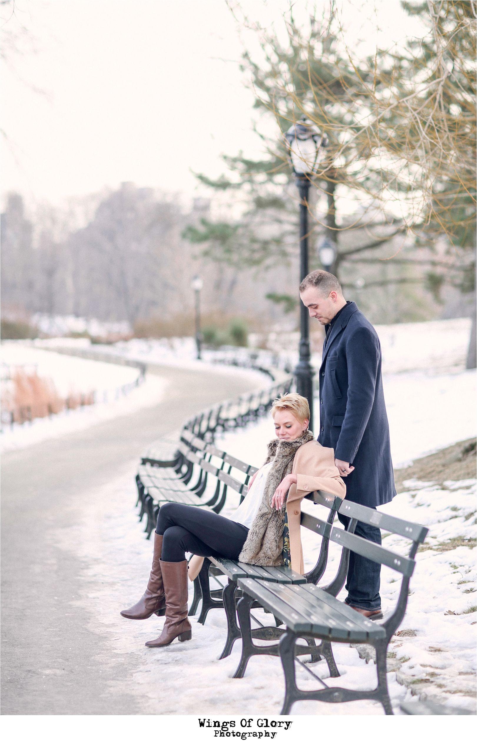 Central Park, New York City Engagement Photo Shoot