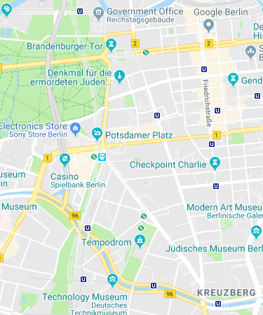 Brandenburg Gate Pariser Platz 10117 Berlin Germany To Hasir Adalbertstrasse 12 10999 Berlin Germany Google Maps Google Maps Map Brandenburg
