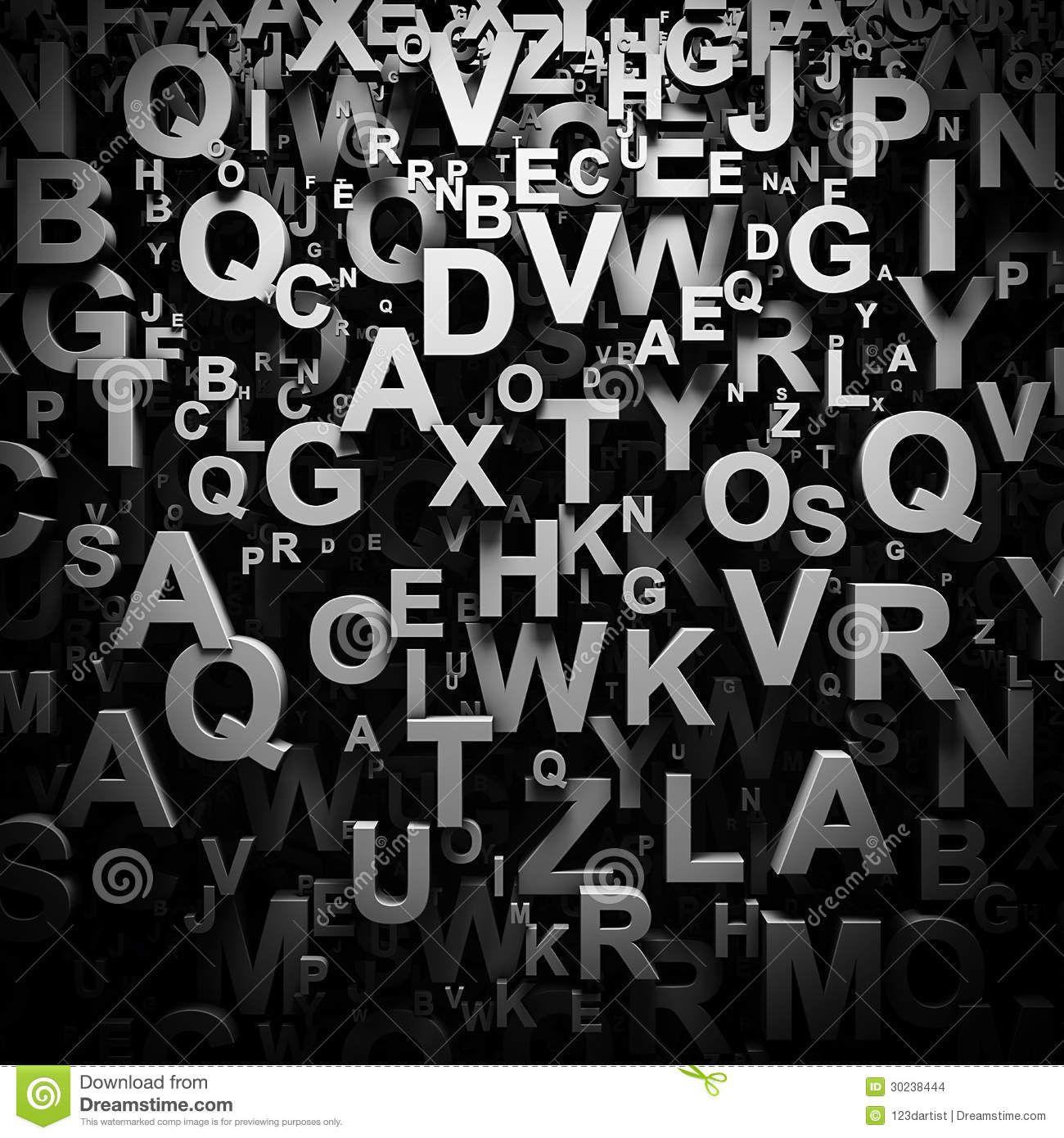 3D Letters Wallpaper Stock Images - Image: 30238444