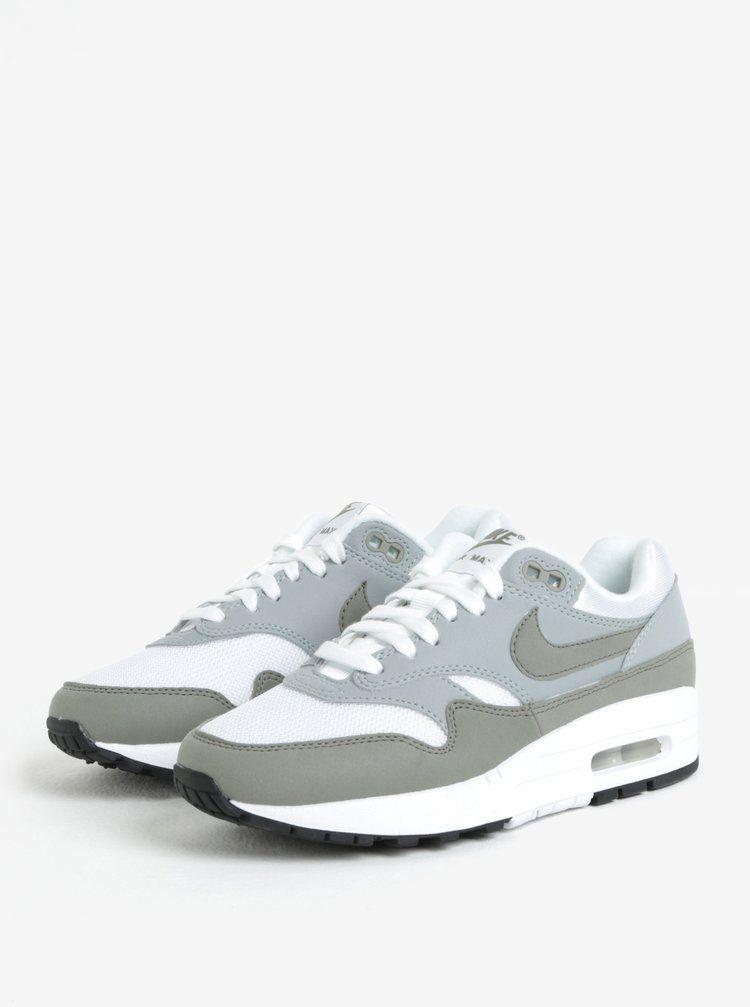Bielo-sivé dámske tenisky Nike Air Max 1  8174f1baf7