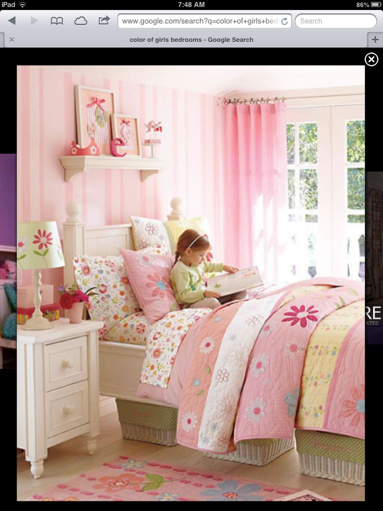 Pink Daisy Garden Bedroom I like the idea of using Sabrina baskets under  the