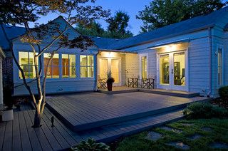 Deck Built In Step Length Of Deck Surround Tree French Doors To Home L Shaped House Around Square Deck Backyard Remodel Deck Design Floating Deck
