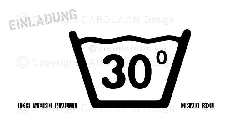 Einladung 30. Geburtstag (30Grad) DIN Lang