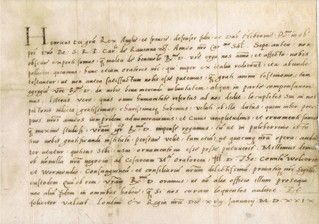 Henry VIII's personal divorce plea - the letter that changed the course of history.  It is addressed to Cardinal Benedetto de Accolti, the Bishop of Ravenna, requesting a divorce from 1st wife Katherine of Aragon & dated January 18, 1529.