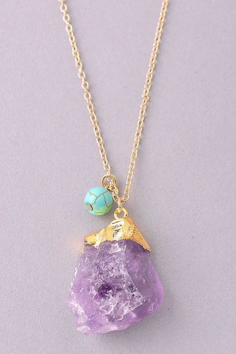AMETHYST DRUZY NECKLACE from Mokka