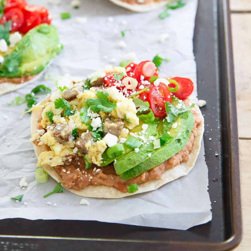 Ham And Avocado Scramble Recipe: Chicken Sausage Breakfast Tostadas