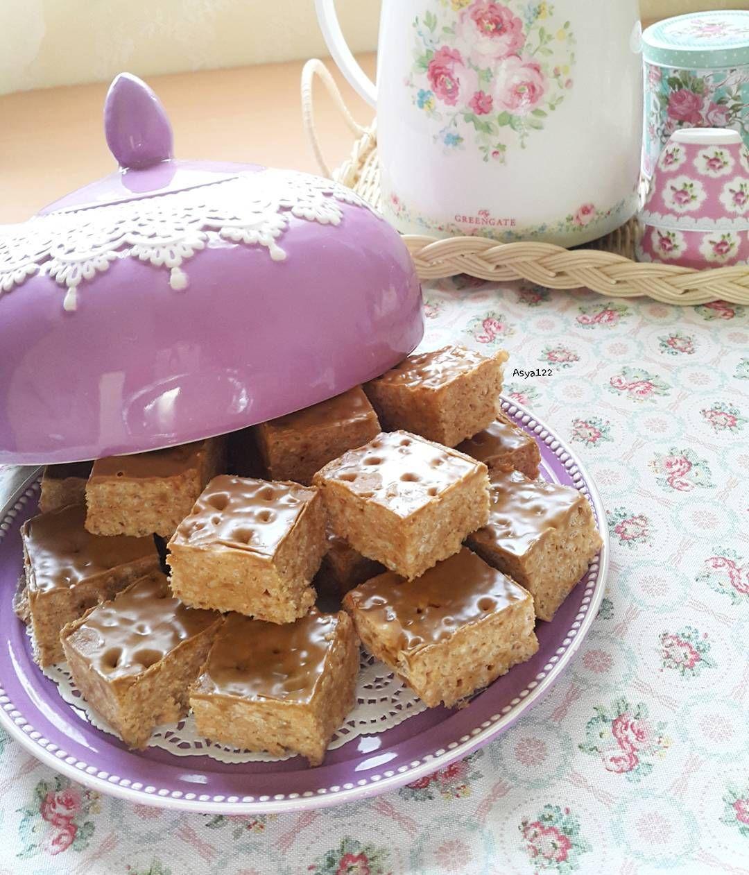 تطبيقي لوصفة Afnanetoo لوتس رايس كريسبي تحطين في جدر عميق غير قابل للالتصاق كيس مارشمالو صغار وزن ثلاثمائة غرام وأربع Desserts Sweet Gingerbread Cookies