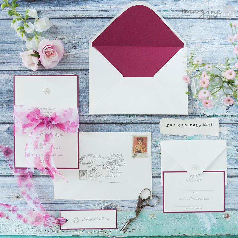 How To Make...Easy Bellefleur Bow Wedding Stationery   Raspberry ...