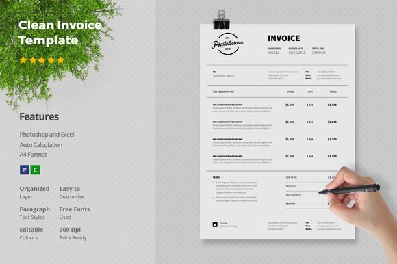 Clean Invoice Template by @Graphicsauthor Templates Pinterest - basic report template