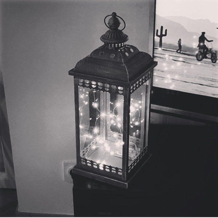 Pris L Idee Chez Maison Du Monde Lanterne Achete Chez Eurodif 16 Et Guirlande Lumineuse Chez La Foir Fouille A 4 D Lanterne Guirlande Lumineuse Decoration