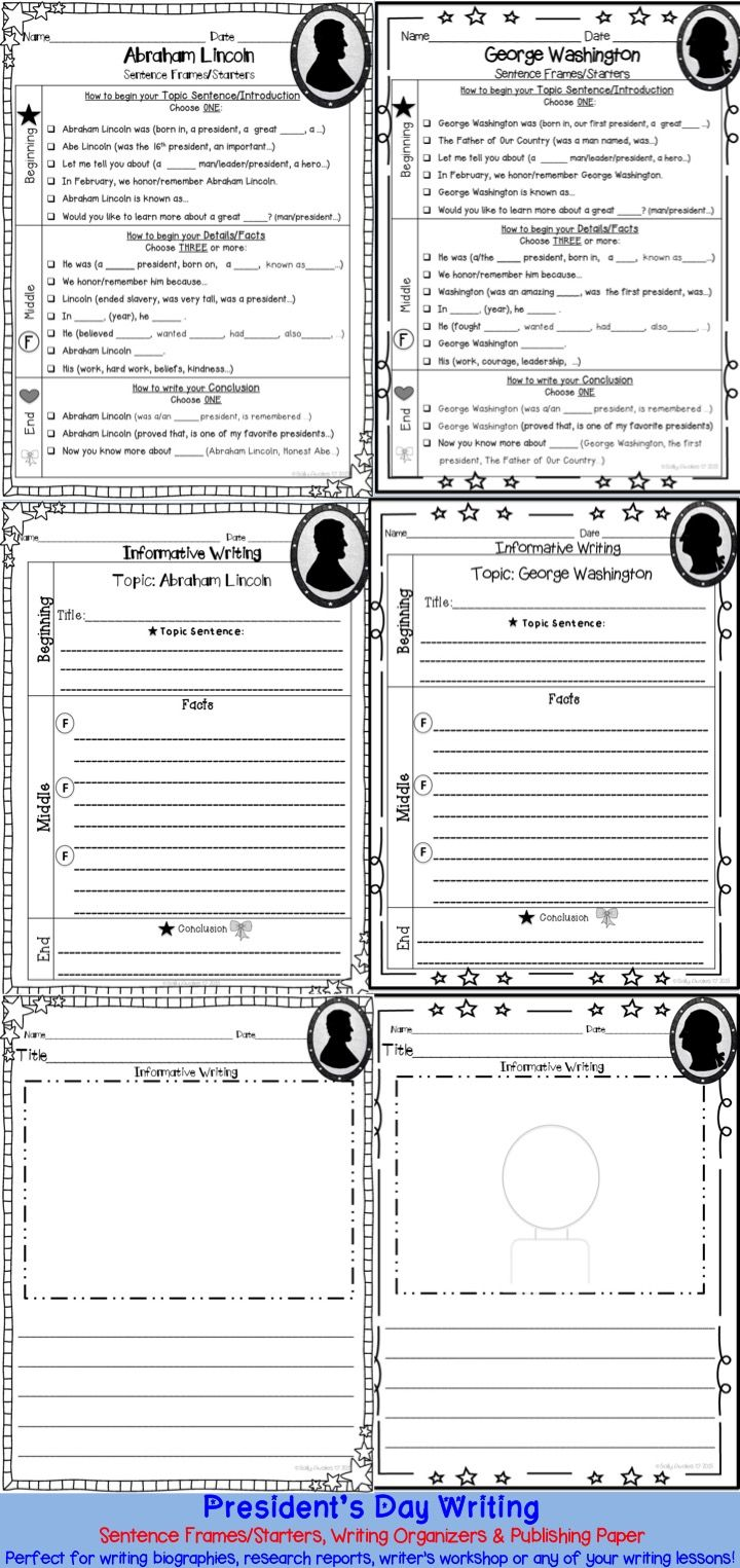 these george washington abraham lincoln writing organizers and these george washington abraham lincoln writing organizers and sentence starters frames can be used