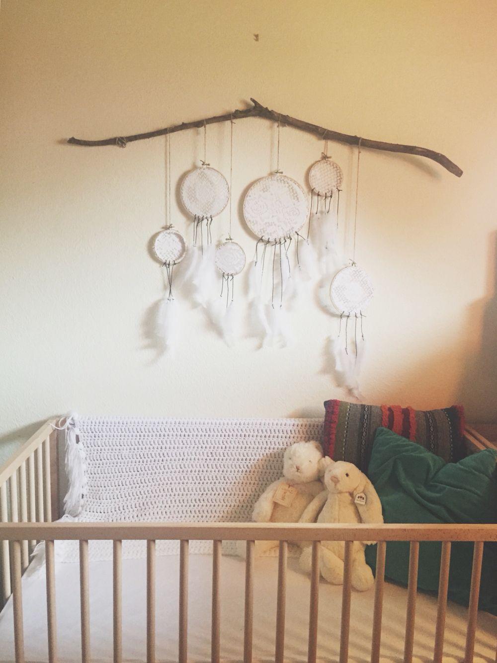 our gender neutral nursery baby ikea sniglar crib with diy doily u0026 driftwood wall
