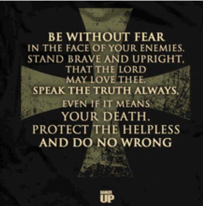 Knight Tattoo Quotes: Knight's Pledge