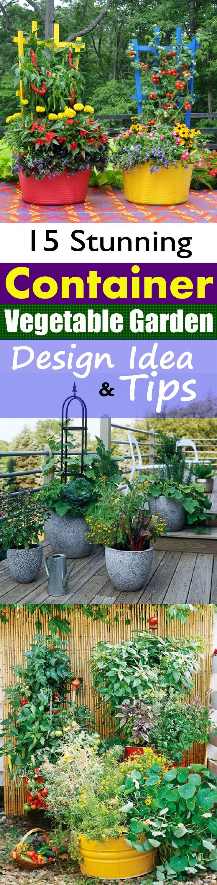 Stunning Container Vegetable Garden Design Ideas u Tips  Green