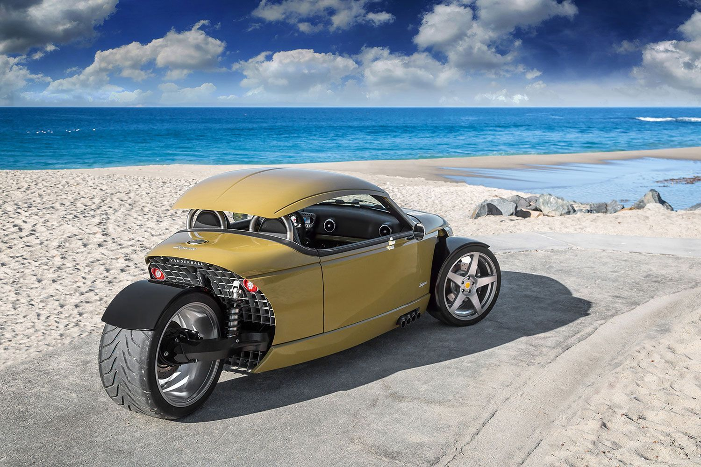 Vanderhall Rear Shot Production Reverse Trikes Cars