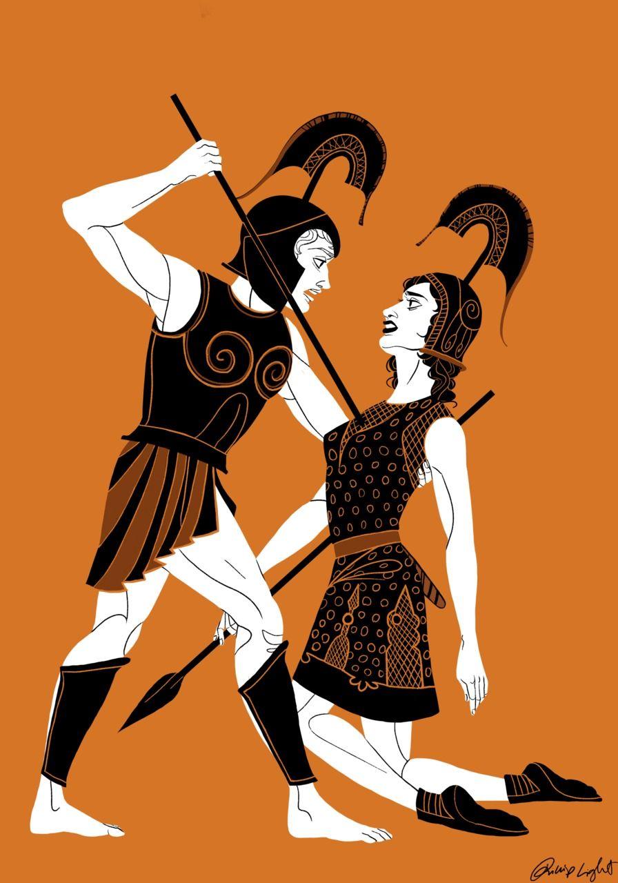 Battle Of Greeks Against The Amazons Modern Art