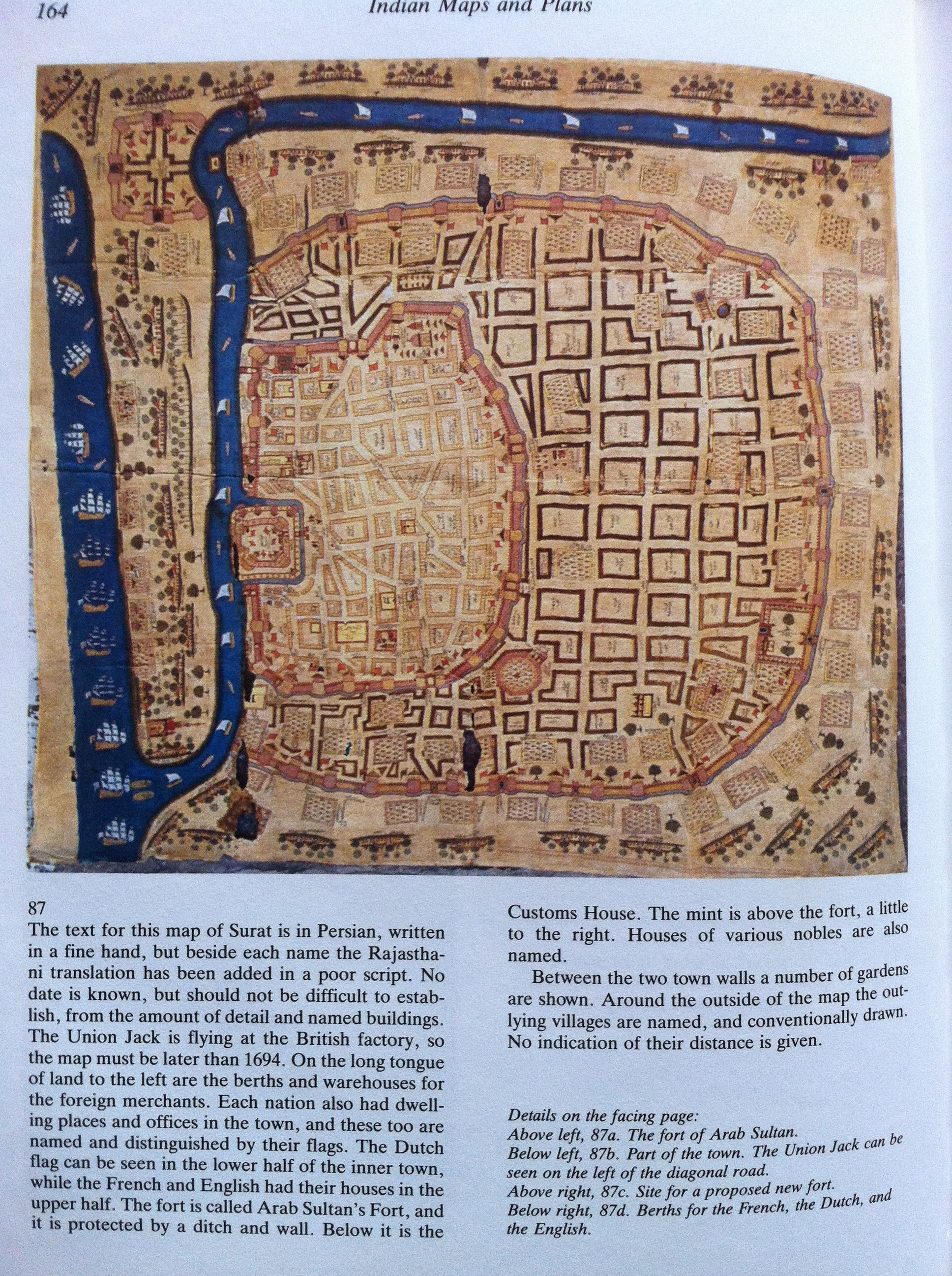 Number 87 Map Of A City In Western India Called Surat From The