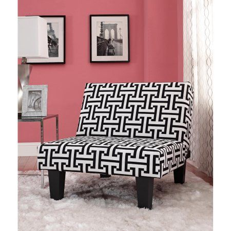 Kebo Chair Black And White Geometric Pattern With Dark