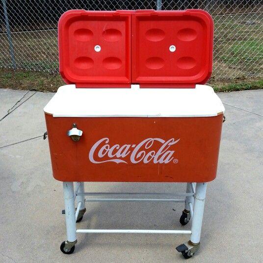Coca cola cooler on wheels
