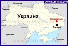 Kramatorsk Na Karte Ukrainy Karta