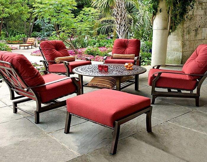 Red Outdoor Chair Cushions Patio Furniture Cushions Outdoor