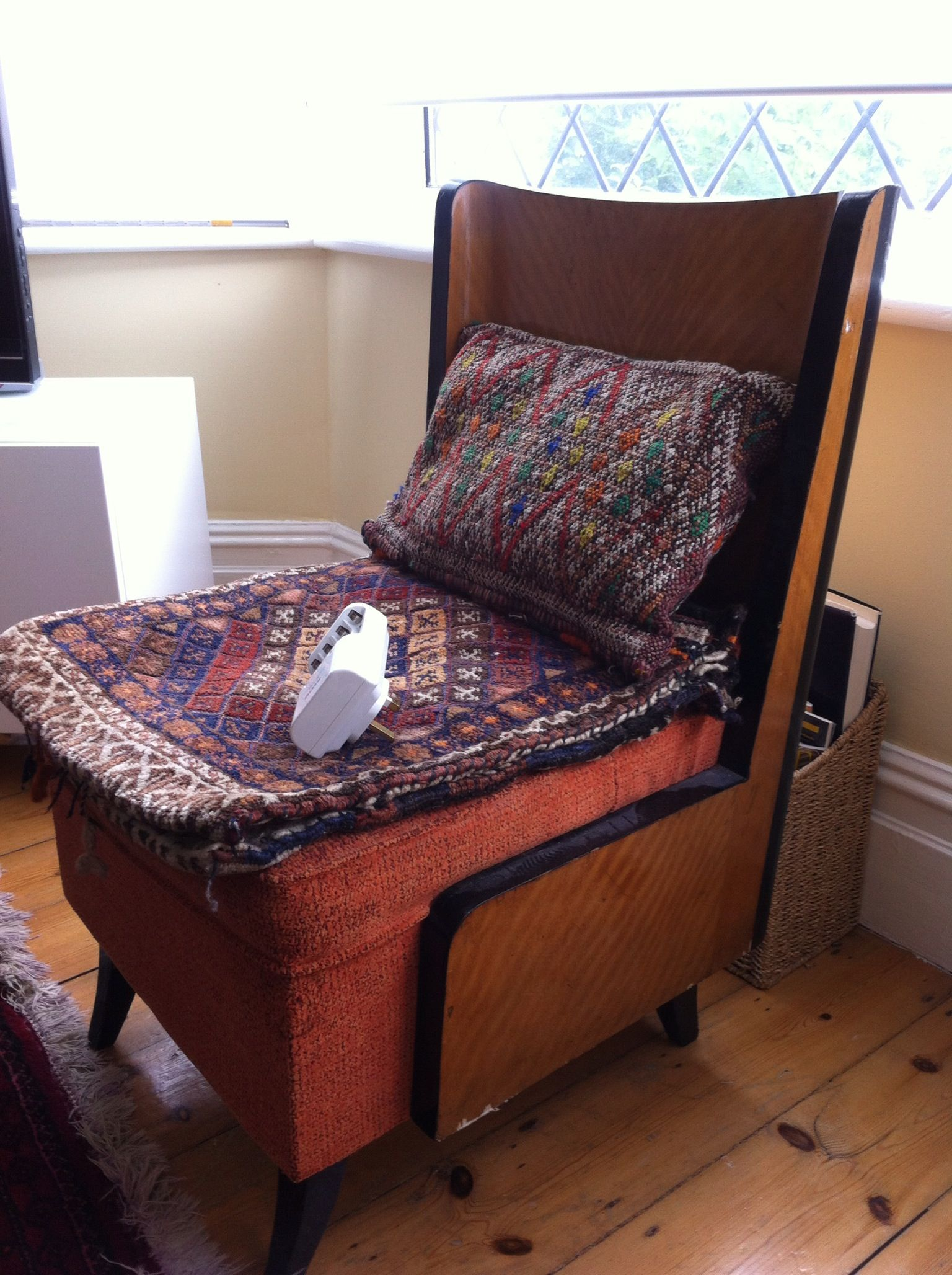 An art deco chair with cushions from morroco deco chairs