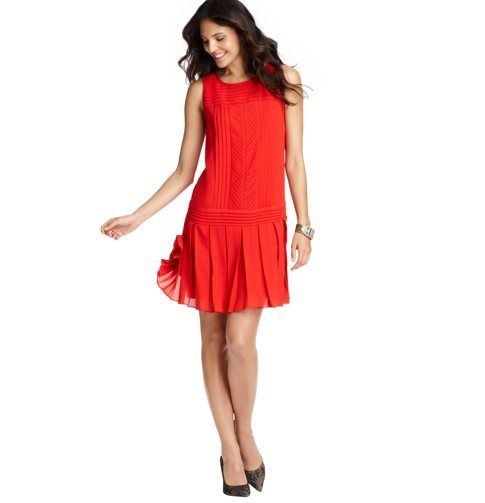 48b821ddec I imagine Jordan Baker from the Great Gatsby in a dress like this ... Pleated  Drop Waist Dress from The Loft.