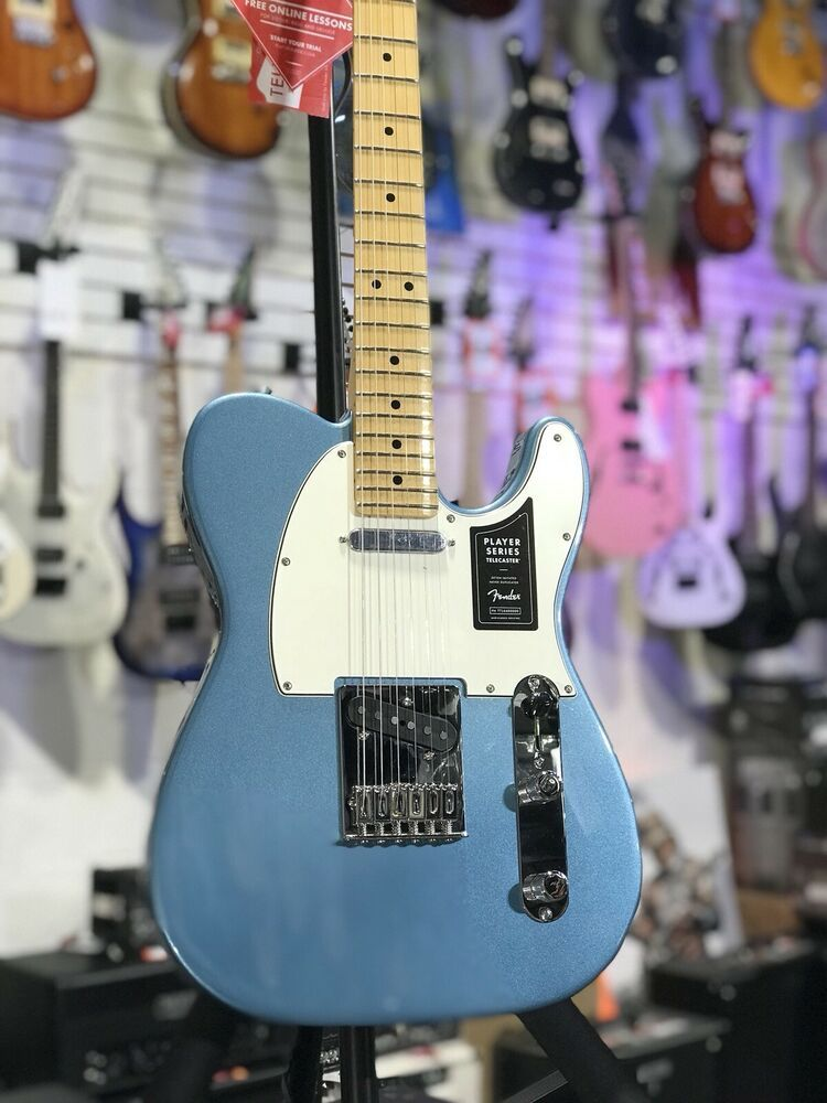 Fender player telecaster maple fingerboard tidepool guitar