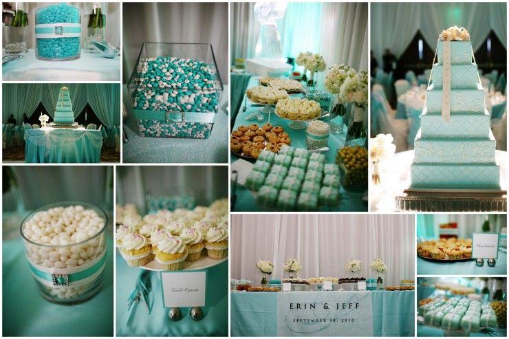 TIFFANY BLUE WEDDING CAKES | Tiffany Blue Wedding Erin Jeff Reception Save The Date