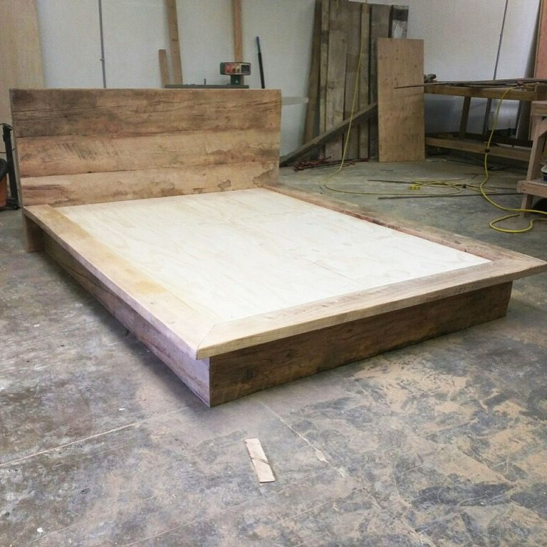 Reclaimed Wood Bed Frame And Headboard Furniture Salvaged