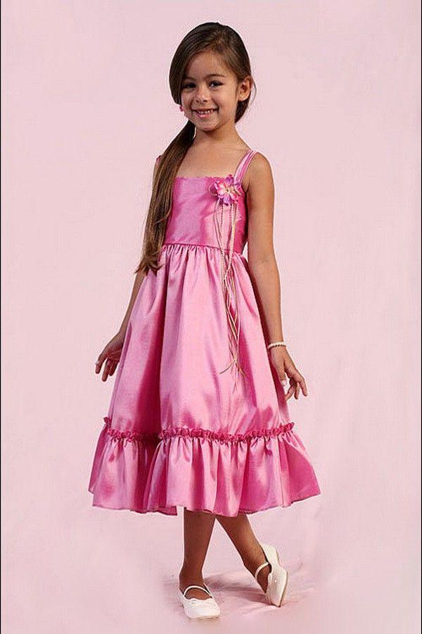 Brilliant Flower Zipper Cheap Flower Girl Dress | Flower Girl ...