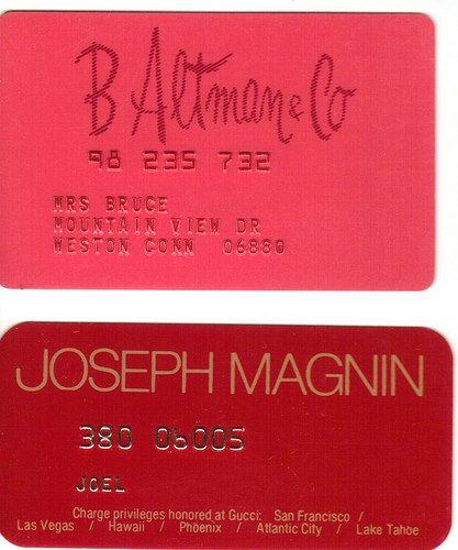 B. Altman & Co And Joseph Magnin Credit Cards