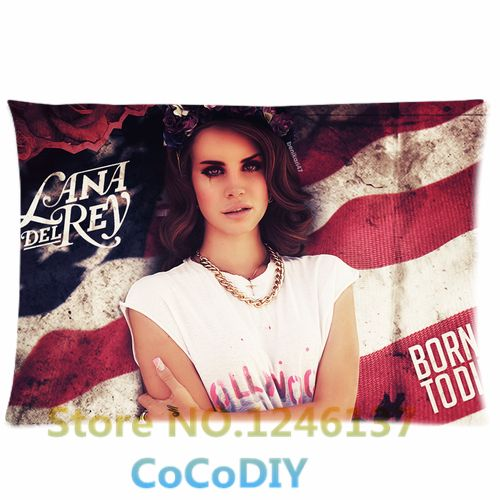 Bedding Pillow Cover Cool Lana Del Rey Super Me American Poster Comfort Cushion Rectangle Soft Custom Pillowcase Two sides Gift