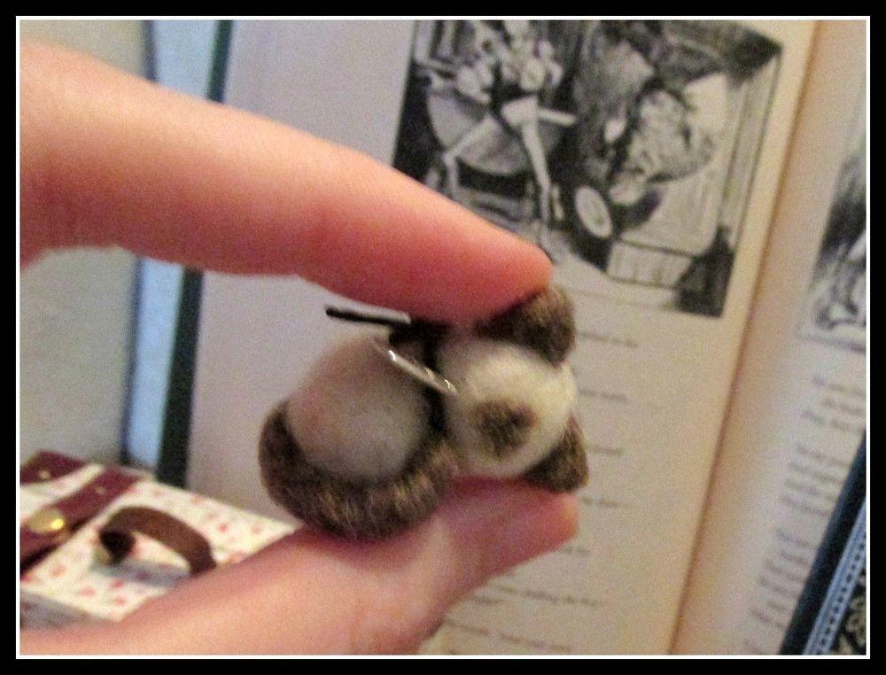 Needle Felted OOAK bear *Baby Newborn Siamese Kitten*~Miniature Dollhouse Cat