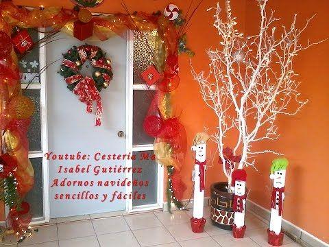 Adorno navideño sencillo y rápido de hacer DIY Cestería y regalos