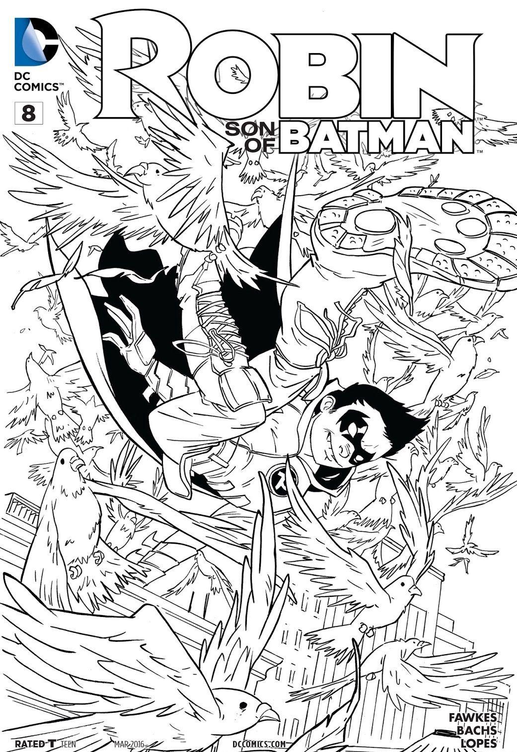 Robin Damian Wayne Coloring Books Cat Coloring Book Superhero Coloring