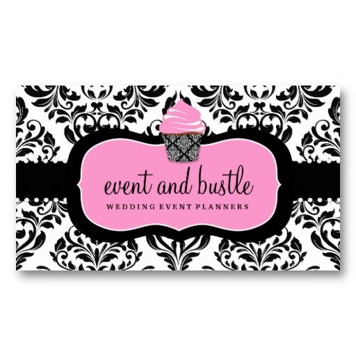 311 event bustle cupcake business card template damask pinterest 311 event bustle cupcake business card template wajeb Images