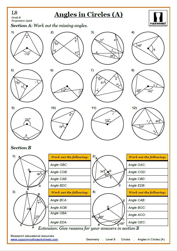 Pin by Anca on D2 in 2020 Math worksheet, Circle
