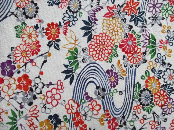 Vintage Silk Kimono Fabric By The Yard Fabric Supply Vintage Kimono Fabric Japanese Silk Kimono Fabric