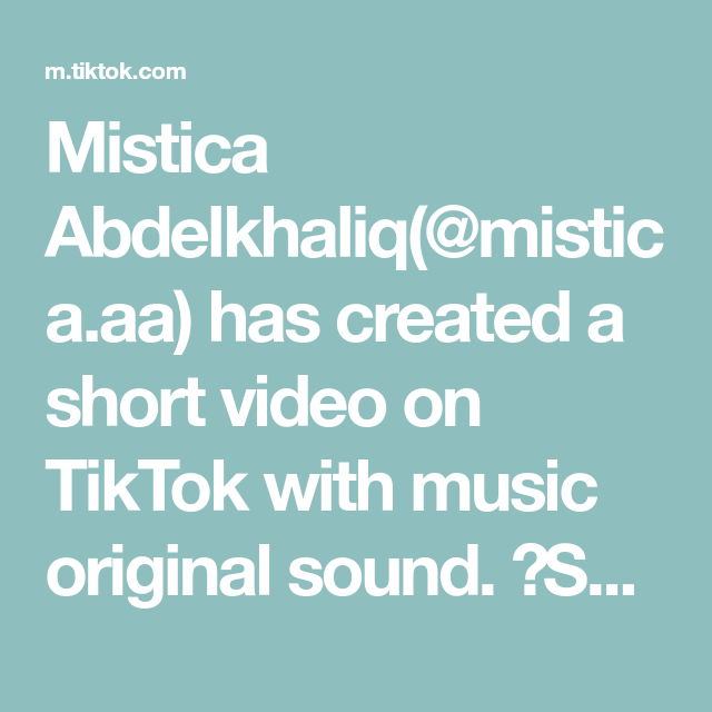 Mistica Abdelkhaliq Mistica Aa Has Created A Short Video On Tiktok With Music Original Sound Scalp Massagers Thickens In 2021 Good Music How To Get Abs David Songs