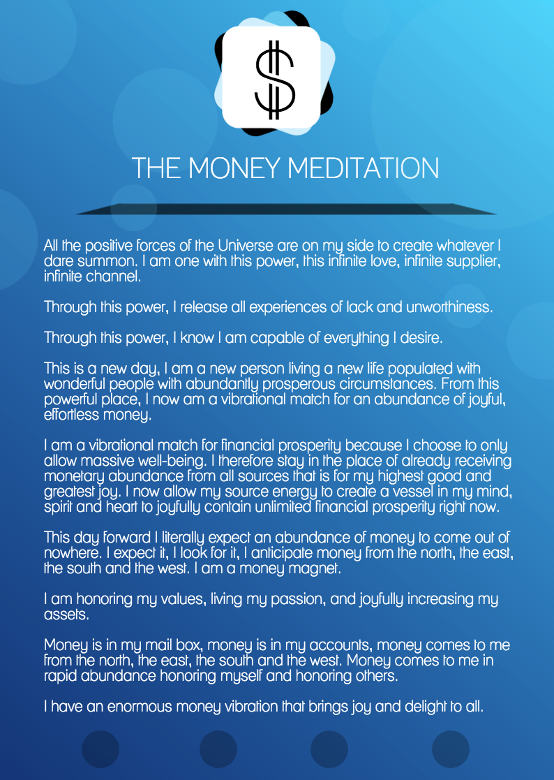 The Money Meditation (for manifesting financial abundance