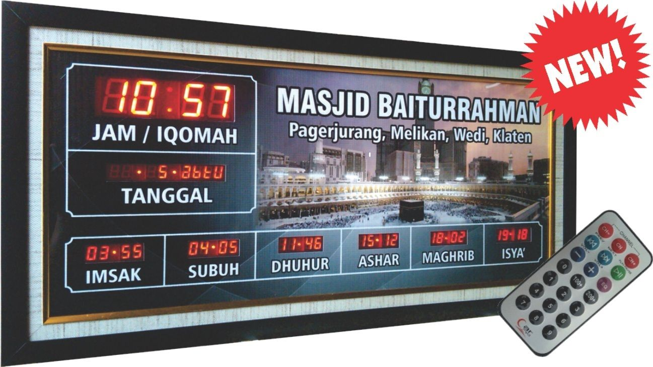 Jadwal Sholat Digital Dengan Remote Control Untuk Ukuran Minimal