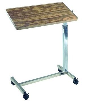 Deluxe Tilt Top Overbed Table Rolling Table For Bed Ridden