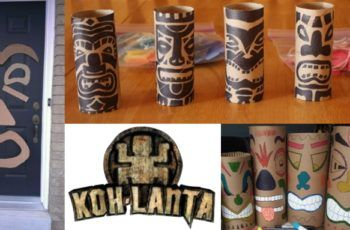 Bricolage totem Koh Lanta : des idées simples et originales