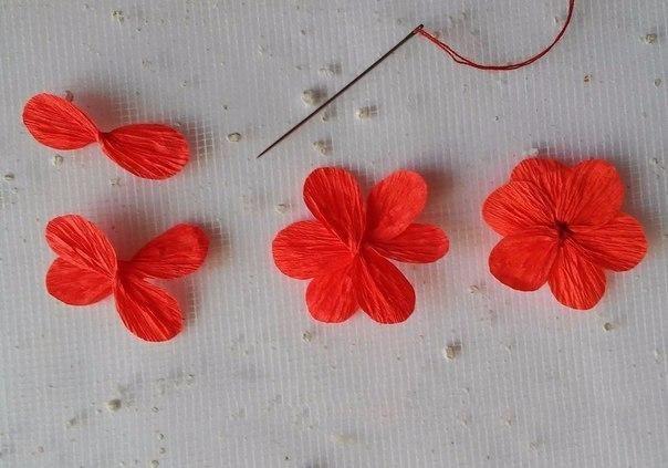 Flores De Papel Crepa C Para Decorar Cajas De Regalo O Tarjetas Flor De Paper Cajas De Regalo Flores Sencillas