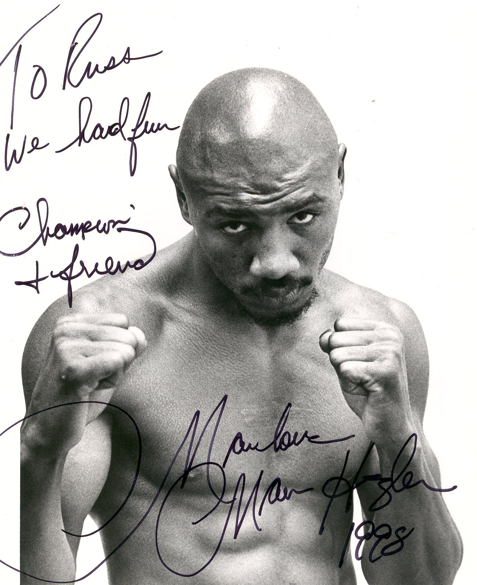 perhaps the best prize fighter that the world has ever seen marvelous marvin hagler