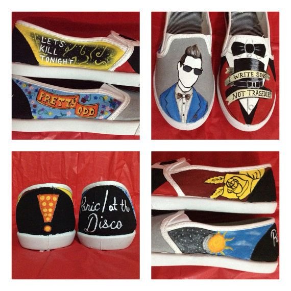 Panic At The Disco Shoes. Kelsey should paint me a pair of these!