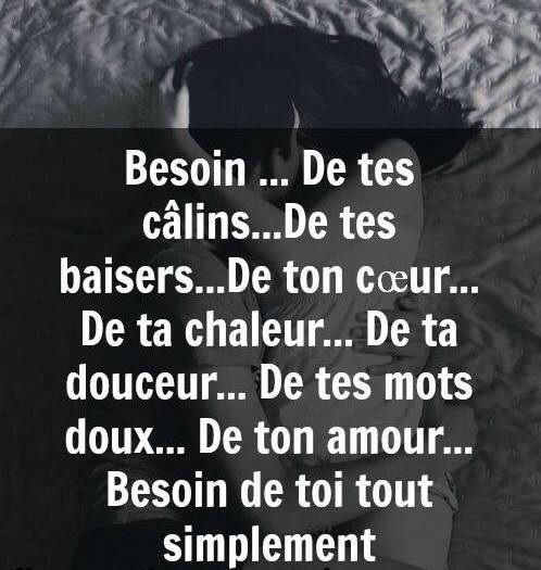 Besoin De Tes Câlins De Tes Baisers De Ton Cœur